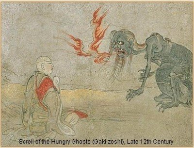 scroll-hungry-ghosts-12thC-in-collection-of-Kyoto-Natl-Museum
