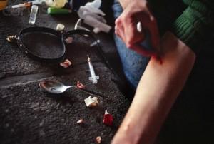Heroin Addict Shooting Up